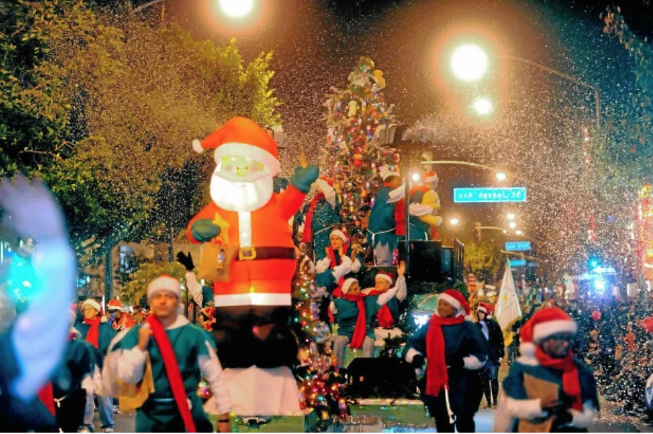 Christmas time in Long Beach, CA brings a parade of parades
