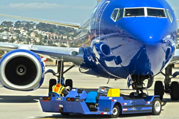 Southwest flight makes emergency landing in SLC after engine catches fire