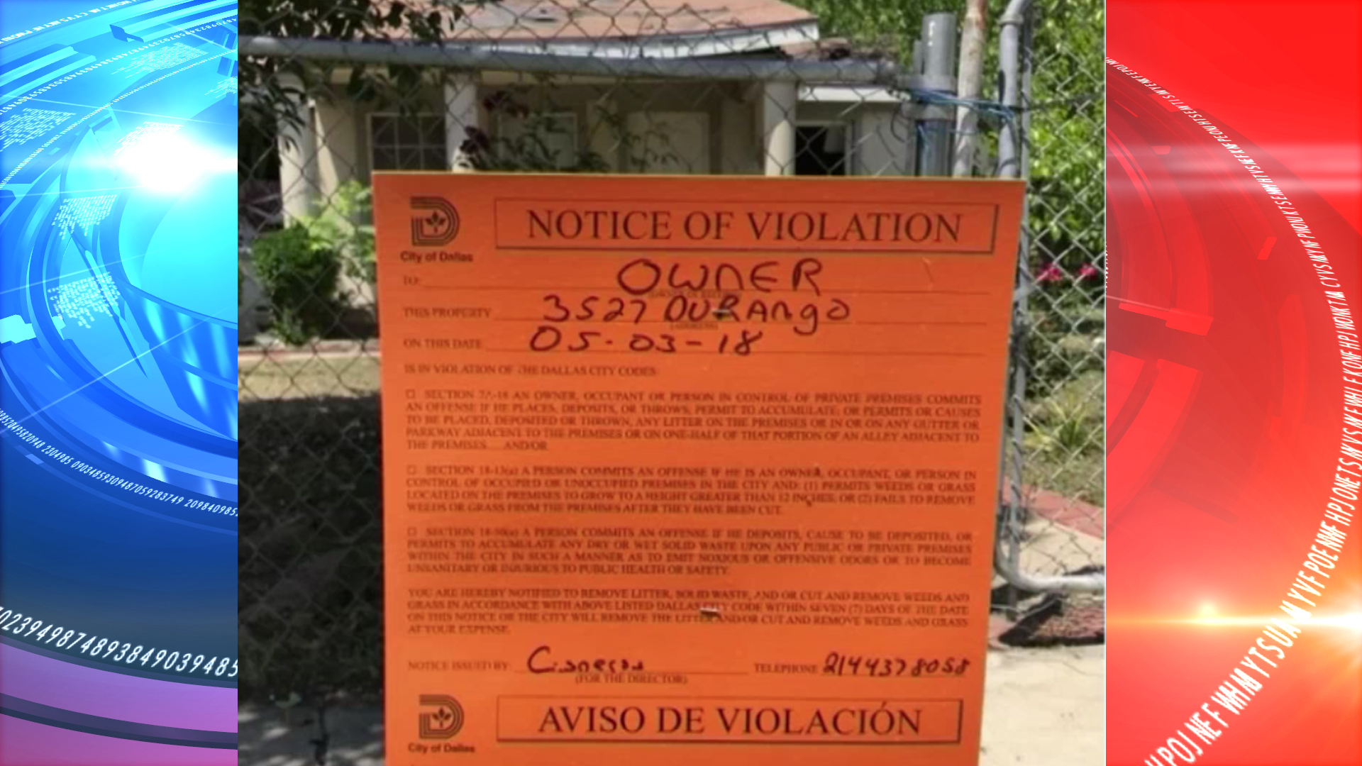 Dallas Home Where a Natural Gas Explosion Injured a Resident has Been Slapped with Code Violation