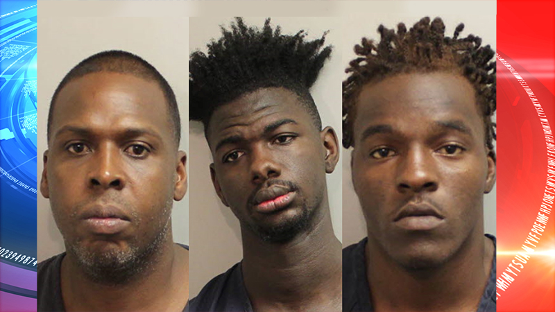 Three men are facing charges in connection to a string of armed robberies in Tallahassee