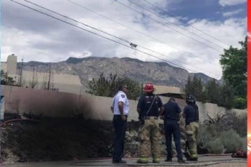 Bird interfering with a power line causes fire in Albuquerque