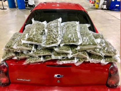 Police stop car for speeding and discover several pounds of marijuana worth over $46,000