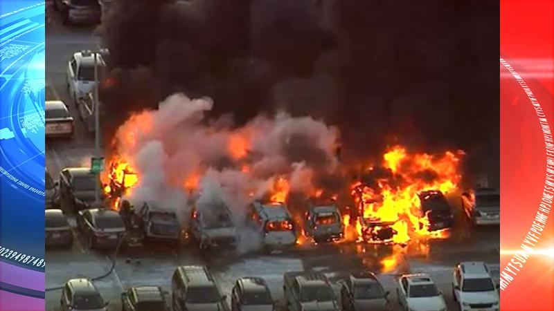 At least a dozen cars catch fire at Newark Liberty International Airport (VIDEO)