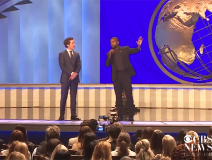 Kanye West performs at Joel Osteen's Lakewood Church in Houston