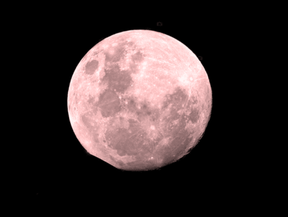 The April fool moon also is known as the full pink moon in San Anselmo, CA