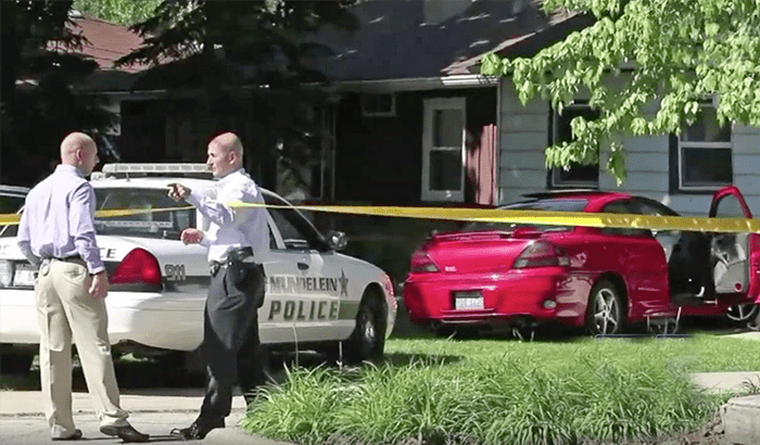 One person was injured after a car crashed into a house in Mundelein, Illinois